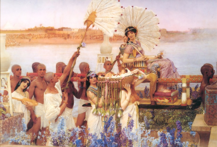 'The Finding of Moses' painted by Sir Lawrence Alma-Tadema (1836-1912)