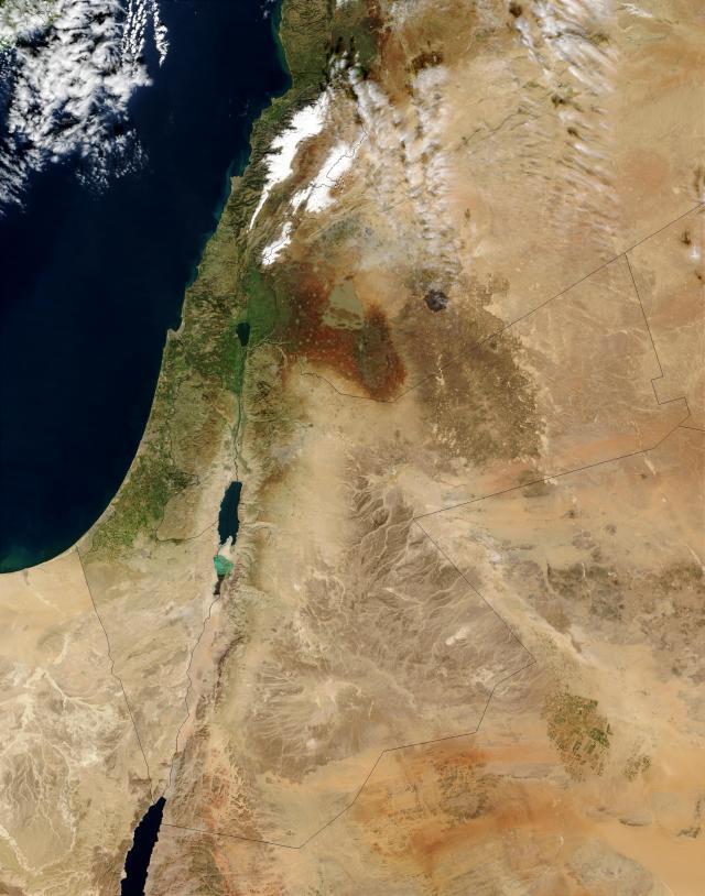 Israel from space (taken in early 2003)
