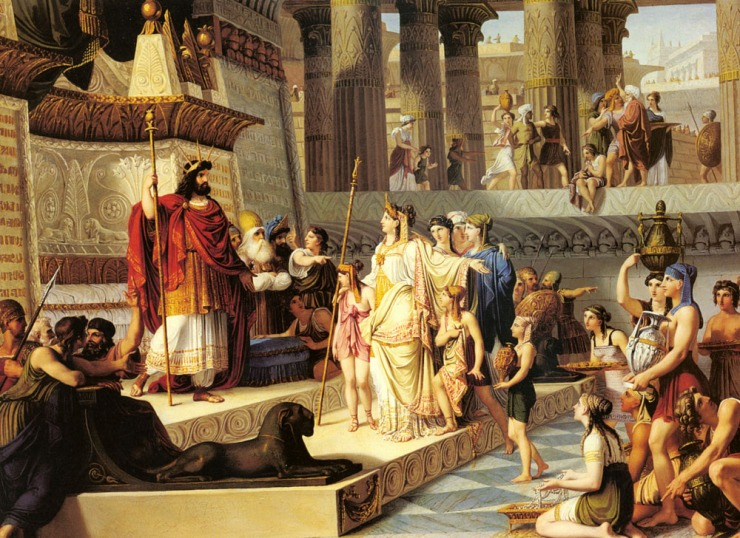 'Solomon and the Queen of Sheba' painted by Giovanni Demin (1789-1859).