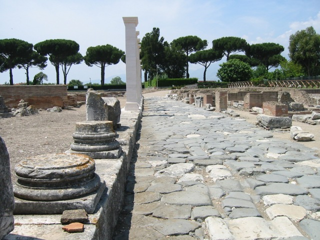 The Appian Way within the ancient city of Minturno, about 80 miles south-east of Rome – Paul may well have walked on this stretch of road on his way to Rome.