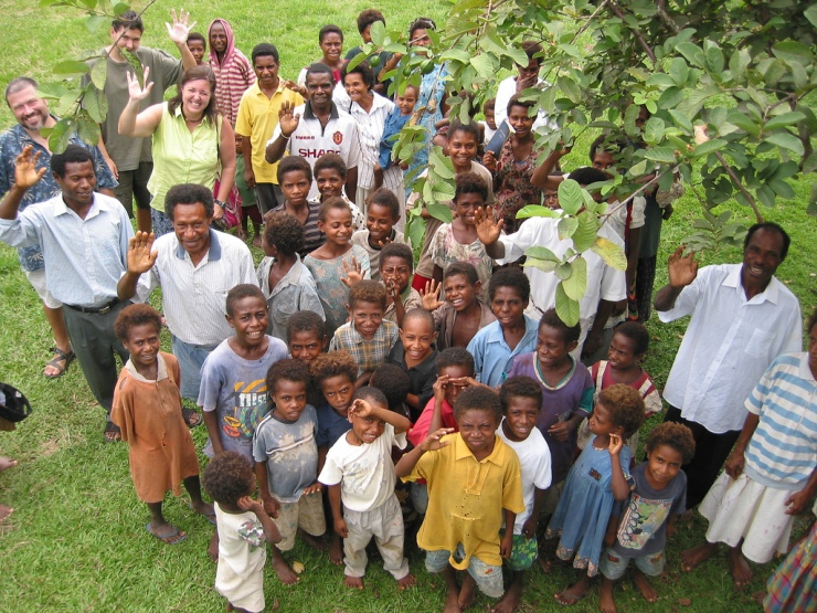 'Pastor Simon's flock'. A church group in Madang Province, Papua New Guinea, pose for the camera. (Image © kahunapulej / Kahunapule Michael Johnson : Flickr.com)
