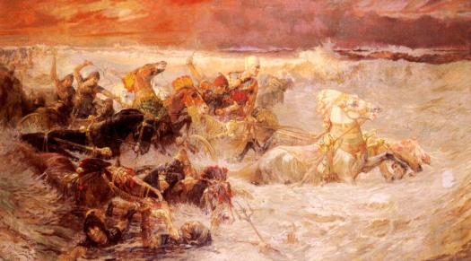 Pharaoh's Army Engulfed by the Red Sea